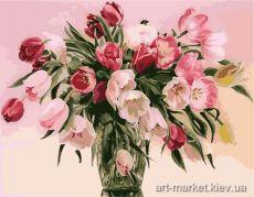 Разноцветные тюльпаны. Без коробки - Рисование по номерам на холсте