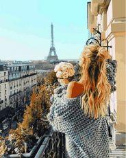 раскраска Парижский балкон