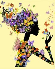 Бабочки Феи - Раскраска по номерам