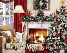 Рождественский вечер у камина
