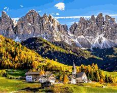Альпы - Картина по цифрам