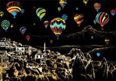 Скретч-картина Cappadocia (Каппадокия в цвете)