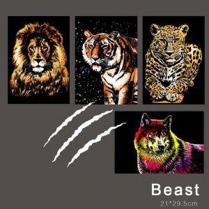 "Скретч-набор из 4-х картин ""Magical Animals Beast"""