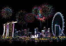Скретч набор Singapore Firework (Праздник сингапурских фейерверков)